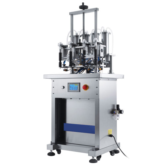 Automatic Glass Bottle with 4 Head Liquid Filling Machine Supplier Factory